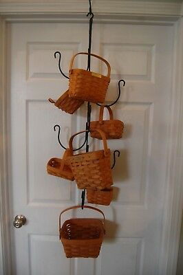Amish Hand Made Hanging Wrought Iron Tree Hanger For Longaberger Baskets