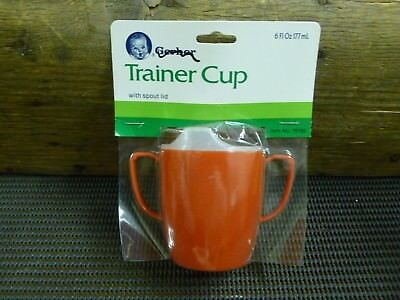Vintage Gerber Trainer Cup With Spout Lid - RED (6 fL oz) (177ml)1986*BN