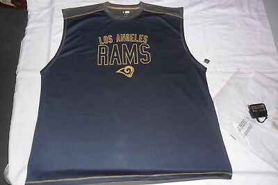 Neu NFL US American Football ärmelloses T Shirt XXXXL Los Angeles Rams 4XL
