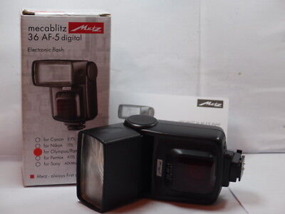 Metz 36 Af 5 Digital Speed Light Flash For E3 E5 E620 E600 Panasonic Lumix G