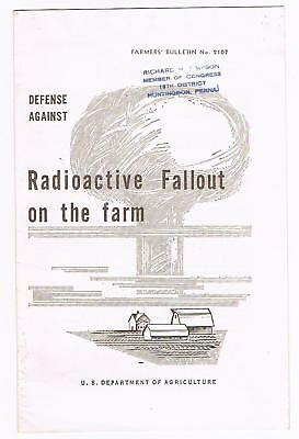 Defense Against Radioactive Fallout On The Farm - 1957