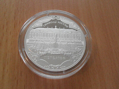 RUSSIA 3 Rubles 2015 Peterhof silver Proof