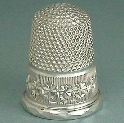 Mint Antique English Sterling Silver Thimble by Charles Horner * Hallmarked 1898