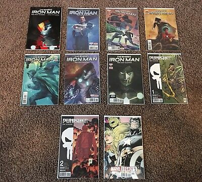 Infamous Iron Man Vol 1 & Issues 7-12, Punisher Platoon 1-2 And Marvel Legacy 1