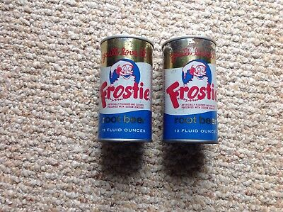 2 Frostie Root Beer (air cans)