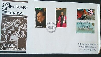 Jersey Stamps 1970 First Day Cover 25th Ann. Liberation