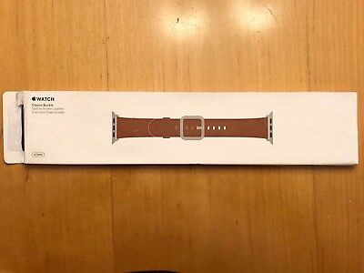 Apple Watch 42MM Saddle Brown Classic Buckle Genuine Apple Band
