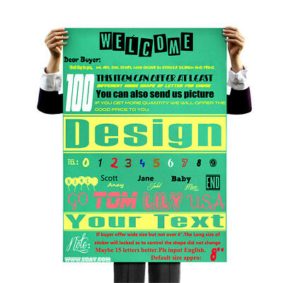 DIY Your Text Custom Personalised Text Lettering Car Window Vinyl Sticker Decal