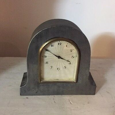 Small art nouveau pewter Clock