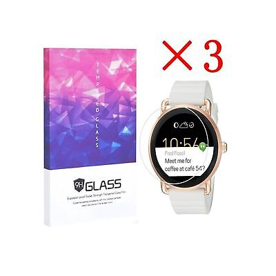 3X Fossil Q Wander Smartwatch Screen Protector Crystal Clear 9H 2.5D Tempered...