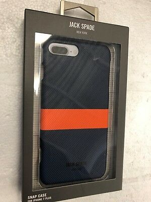 cheap for discount 0972a 91e24 JACK SPADE NY - iPhone 8Plus - 7Plus Snap Back Case Navy/Blue - New In Box