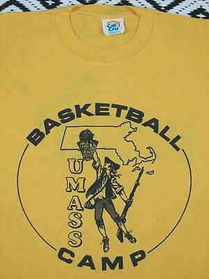 VTG UMASS BASKETBALL CAMP T Shirt Puma 50/50 Youth size SM/M