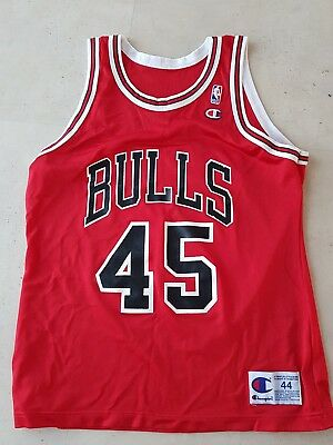 michael air jordan nba bulls champion trikot nr. 45 gr. 44 basketball jersey
