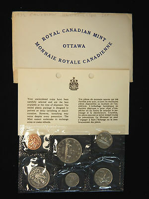 1972 Canadian 6-Coin Brilliant Uncirculated (Proof-like) Collector Set.