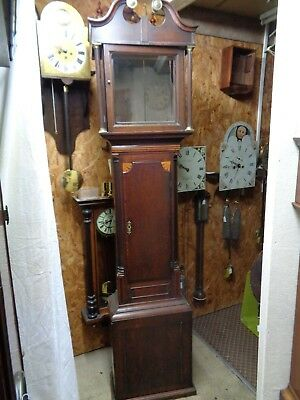 """Longcase Clock CASE"" Oak & Mahogany Swan Neck grandfather cabinet movement dial"