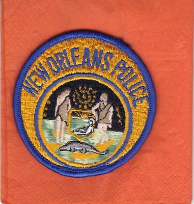 New Orleans Police - Ärmelabzeichen mit Flyer - patch with flyer - Rarität!