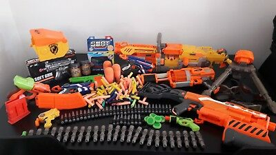 BUNDLE OF NERF GUNS,BULLETS and GLASSES LARGE COLLECTION, JOB LOT