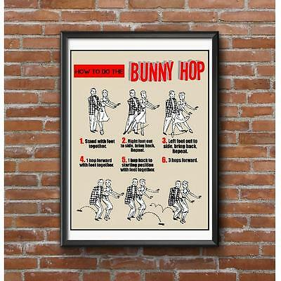 The Bunny Hop Poster - Detailed Dance Instructions