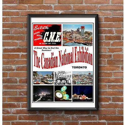 CNE Canadian National Exhibition 1960's Poster - Toronto See It At The CNE