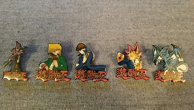 Lot of 5 Yu-Gi-Oh! Enameled Badge Pin 1996