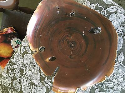"Beautiful Rustic Country Hand Carved Burl Wood  Centerpiece 10"" Wood Art"