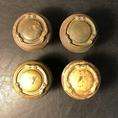 Lot of 4 Matching Antique Vintage Ornate Door Knobs