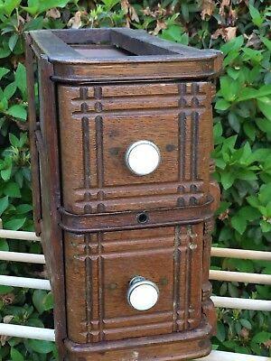 Singer Treadle Sewing Machine Cabinet Drawers, Solid Wood Antique Vintage