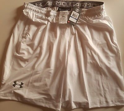 Under Armour Herren Heatgear kurze Shorts UA Gr. XL In WEISS Jogging * nagelneu