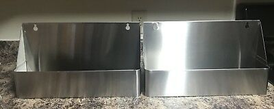 "17.5"" Stainless Steel Single Tier Commercial Bar Speed Rail Liquor Display Rack"
