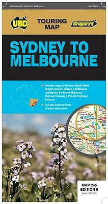 Sydney to Melbourne Map 245 6th ed by UBD Gregorys Free Shipping!
