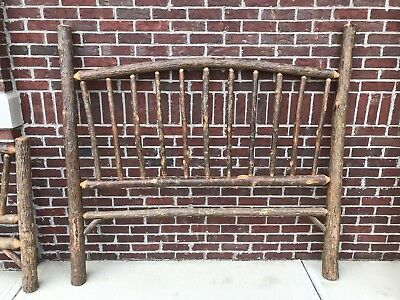 Old Hickory Sunburst Wooden Queen Bed Frame Rustic Cabin Shelbyville Indiana