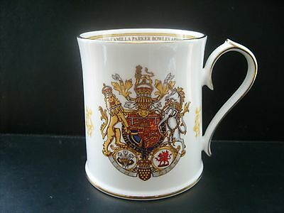 2005 Charles & Camilla marriage commemorative mug by Aynsley-wrong date!