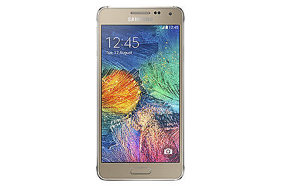 """New"" Samsung Galaxy Alpha SM-G850A - 32GB - Frosted Gold (Unlocked) Smartphone"