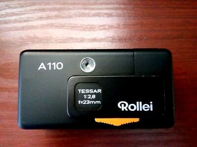VINTAGE ROLLEI  A 110 MINIATURE CAMERA  fitted with Tessar 1:2,8 f 23mm UNTESTED