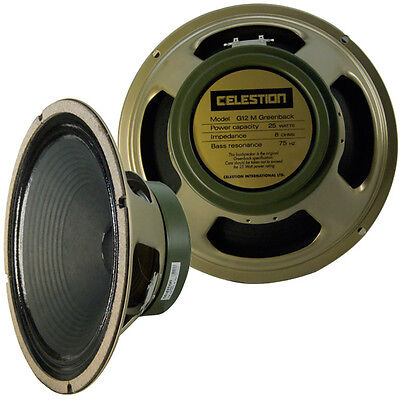 """Celestion 16 ohm 12"""" G12M Greenback 25 watts guitar speaker Made in England new"""