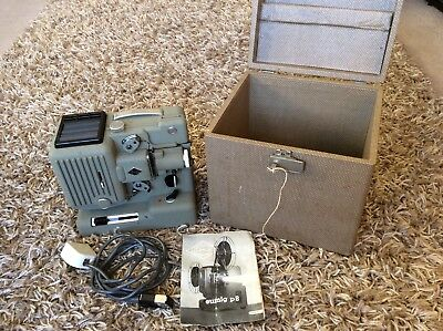 Vintage EUMIG P8 - 8mm Cine Film Projector in Case with instructions and cable