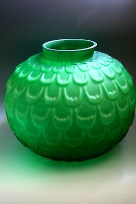 Antique Art Deco  Large Glass Vase In The Style Of Lalique - Possibly French