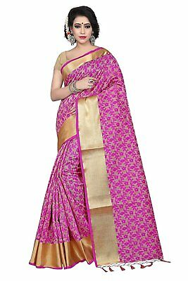 Designer Banarsi Silk Saree New Indian Pakistani Fancy Party Wear Ethnic Saree