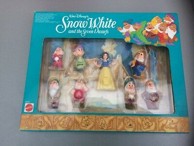 MATTEL Disney Snow White and the Seven Dwarfs Figures in Box Sealed