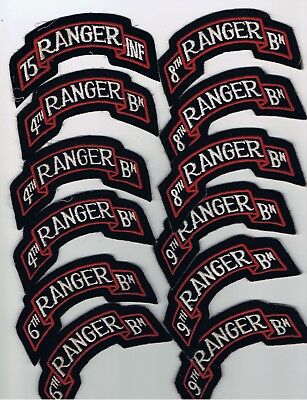 Collection, Lot, Grouping Of (12) Us Army Ranger Scrolls, Patches. Airborne!!!