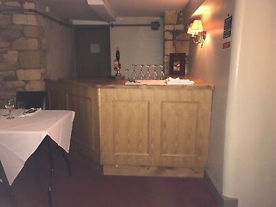 bar counter pub bar solid wood from traditional Cotswold Pub