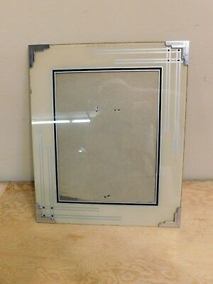 Vintage Reverse Painted Art Deco Picture Frame 10x12