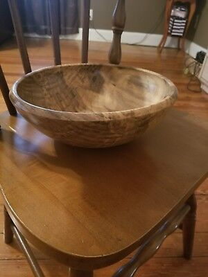 Large handmade wooden bowl...13 inches...