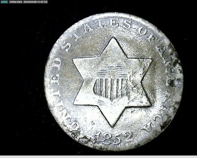 1852 3 Cent Silver Trime #4121