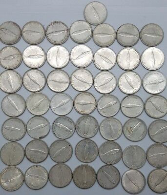 1967 Canadian Silver Dimes 10 Cent Centennial Year Lot Of 50 ( Full Roll $5 )