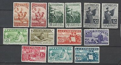 Luxembourg- 1935 - INTELLECTUALS - VARIETY- 11 NEW/ 2 USED