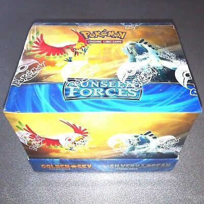 BOX POKEMON Cards EX UNSEEN FORCES Golden Sky Silvery Ocean ENGLISH Lugia Ho-oh
