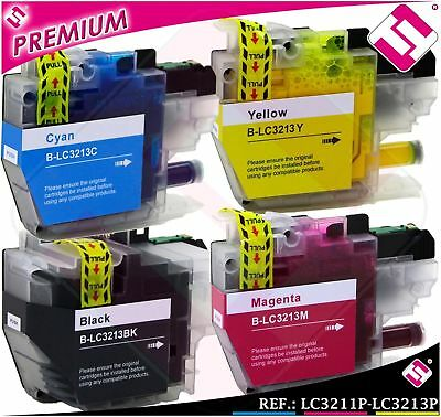 Pack 4 Tintas Lc3213 Lc3213 Xl Cartuchos Nonoembrother Compatible Set Ahorro