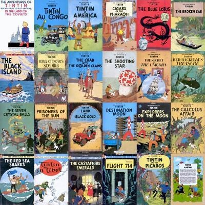 The Adventures of Tintin Comics Collection Herge (ALL 31 BOOKS - PDF FORMAT)