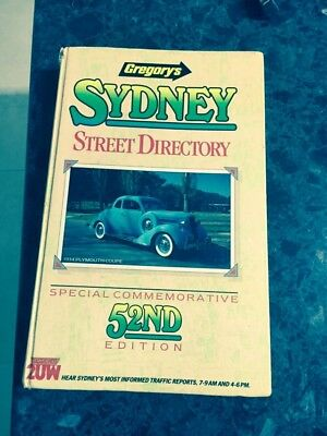 gregory's sydney street directory / 52nd edition special commemorative 1987/ HB